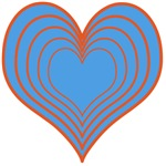 Blue Layered Heart