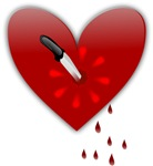 Bloody Heart With Knife