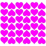 Pink Hearts Tile