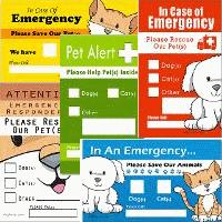 Pet Emergency Rescue Stickers