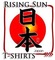Rising Sun Flag of Imperial Japan, Kanji T-shirts