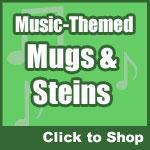 Music Mugs, Steins and Drinkware