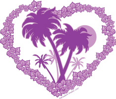 Purple PALM HEART
