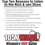 Top Ten Reasons to Listen