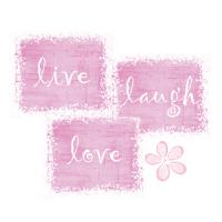 live, laugh, love (flower)
