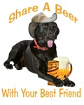  Black Lab Shares A Beer