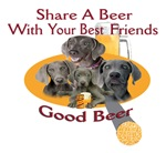 Weimaraner Shares A Beer With Your Best Friend
