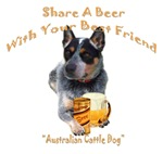 Australian Cattle Dog Shares A Beer