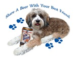 Tibetan Terrier Share A Beer