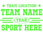 Personalized Your Team Custom Neon Green