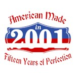American Made 2001 15th Birthday Patriotic