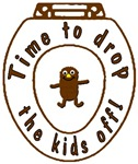 Drop the Kids Off Funny as Poop T-shirt