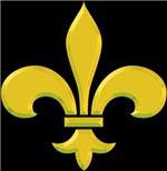 New Orleans fleur-de-lis Gold Bevel