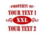 Property of Your Text Red