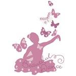 Ballerina Dancing With Butterflies