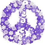 Retro peace print