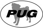 Pug in an Oval
