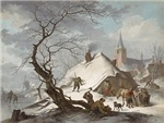 Painting of a Winter Scene