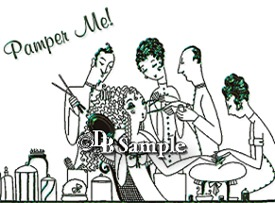 Vintage French Line Art Whimsy 'Pamper Me' Apparel
