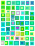 Green Tiles with a Purple Heart
