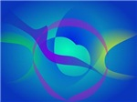 Blue Soothing Abstract Art