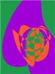 Contrasting Colors Simple Abstract Art