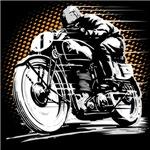 Vintage Motorcycle racer