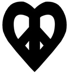 Heart Shaped Peace in Black