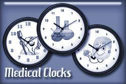 Medical Occupation Wall Clocks