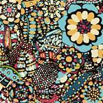 Color Zentangle Floral Pattern