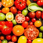 Tomatoes Red Green Yellow