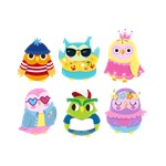Cute Owls With Funny Clothes