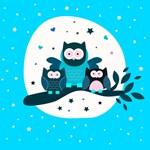 Cute Owl Family Tree Branch
