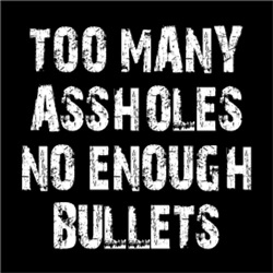 Too Many Assholes No Enough Bullets