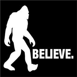 Bigfoot Yeti BELIEVE