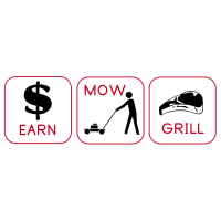Earn, Mow, Grill