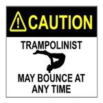 warning Trampolinist