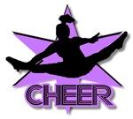 Cheerleader in purple