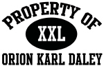 Property of Orion Karl Daley