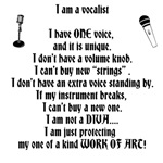 I am a vocalist