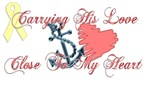 Carrying His Love (Navy)