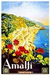 Amalfi Italy Travel Poster 1