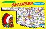 Oklahoma Map Greetings
