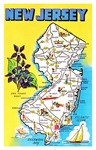 New Jersey Map Greetings