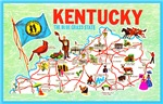 Kentucky Map Greetings