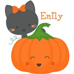 Kitty and Pumpkin Personalized