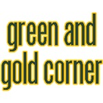 green and gold corner