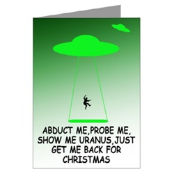 Rude Cards for Christmas with a rude alien theme