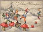 Authentic Mushroom Holiday Cards