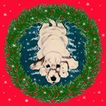 English Setter  Pup Christmas Artwork